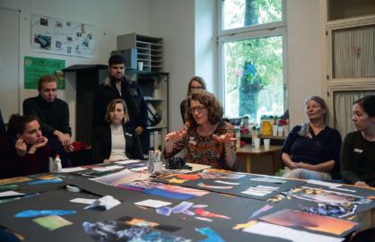 Umsetzung eines Workshops in einer Augsburger Unterkunft